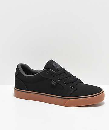DC Anvil TX Black & Gum Skate Shoes