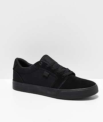 358cd56802f8 DC Anvil TX SE All Black Skate Shoes