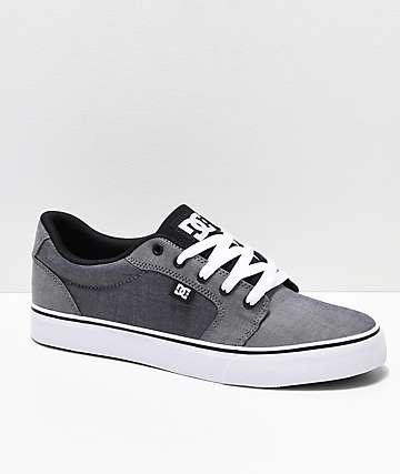 DC Anvil TX SE Grey Textile Skate Shoes 7d962248a683d