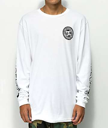 DC Circle Star White Long Sleeve T-Shirt