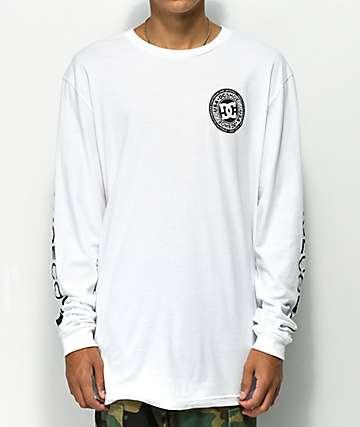 DC Circle Star camiseta blanca de manga larga