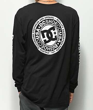 DC Circle Star camiseta negra de manga larga