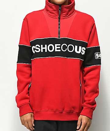 DC Clewiston Mock Half Zip Mock Sweatshirt
