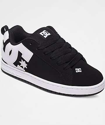 DC Court Graffik Black & White Shoes