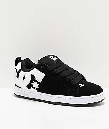DC Court Graffik Black & White Skate Shoes