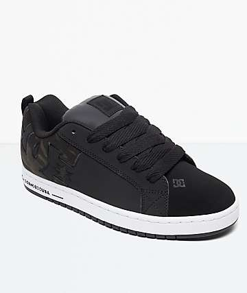 DC Court Graffik Black & Camo Shoes