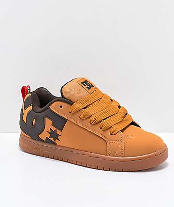DC Court Graffik SE Wheat & Gum Skate Shoes