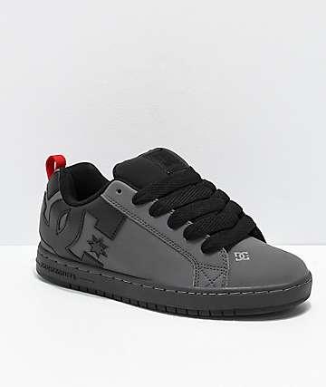 DC Court Graffik zapatos de skate en negro y gris
