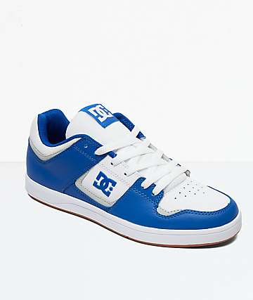 DC Cure Blue & White Skate Shoes
