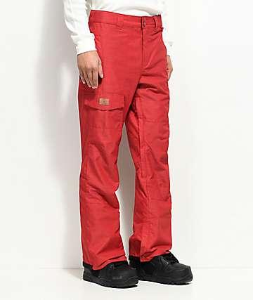DC Dealer 10K pantalones de snowboard en rojo