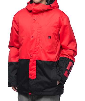 DC Defy Racing Red 10K Snowboard Jacket
