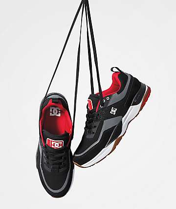 DC E. Tribeka Black, Grey & Red Shoes