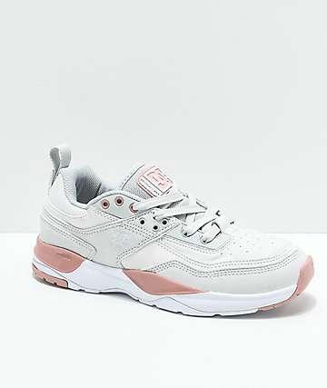 DC E. Tribeka SE Grey & Pink Shoes