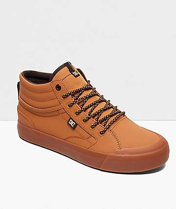DC Evan Smith Hi WNT Brown & Gum Skate Shoes