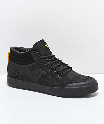 DC Evan Smith Winter Black & Yellow High Top Shoes