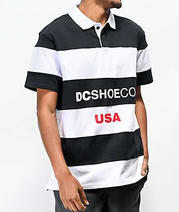 DC Finterwald Black & White Polo Shirt