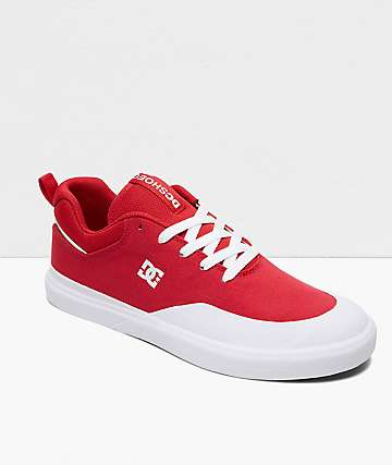 DC Infinite TX Red & White Skate Shoes