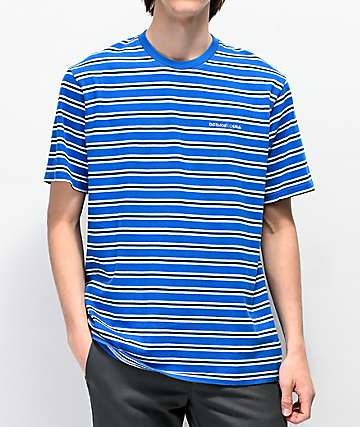 DC Jess Blue & White Stripe Knit T-Shirt