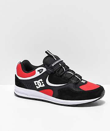 DC Kalis Lite Black & Athletic Red Shoes