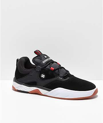 DC Kalis Lite S Black, White & Red Skate Shoes