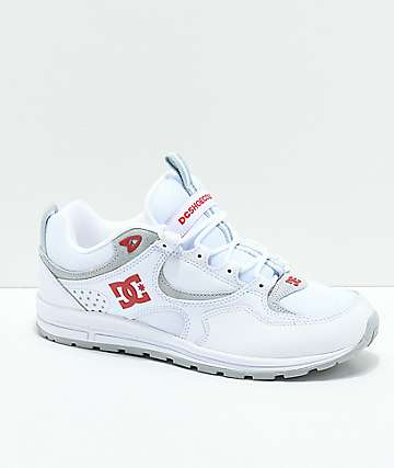 DC Kalis Lite White & Red Shoes