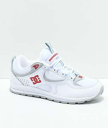 DC Kalis Lite zapatos en blanco y rojo