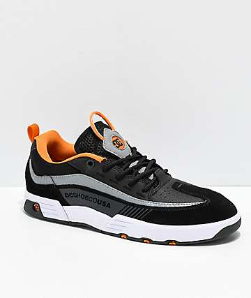DC Legacy 98 Slim Black, Orange & White Skate Shoes
