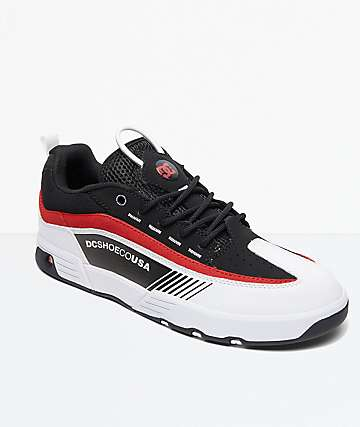 DC Legacy 98 Slim Black, Red & White Shoes