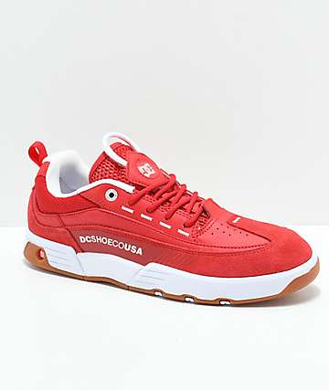 DC Legacy 98 Slim Red & White Shoes