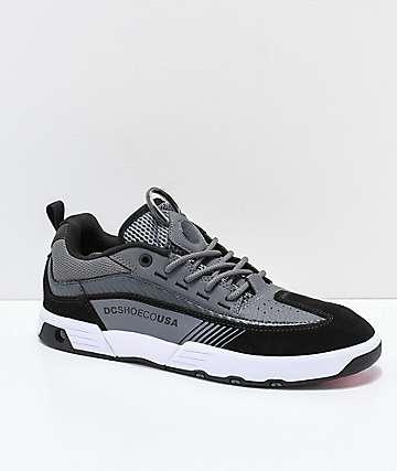 DC Legacy 98 Slim zapatos de skate en negro, gris y blanco