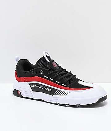 DC Legacy 98 Slim zapatos de skate en negro,blanco y rojo