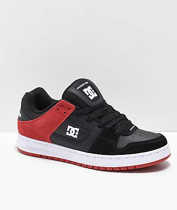 DC Manteca Black, Red & Black Skate Shoes