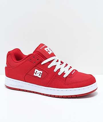 DC Manteca TC XE rojo zapatos de skate rojos y blancos