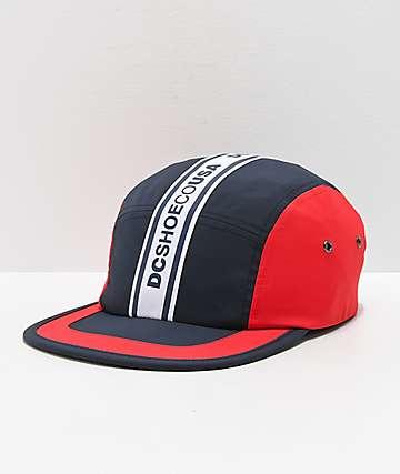 DC Overdraft Logo gorra azul marino y rojo