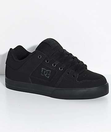 b87980f5e27 DC Pure Black   Pirate Black Skate Shoes