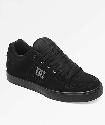 DC Pure Black & Pirate Black Shoes