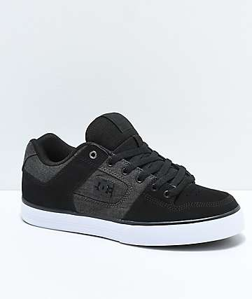 3c58ffd5bb7 DC Pure SE Black   Dark Grey Skate Shoes