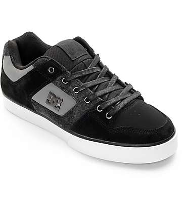 DC Pure SE Black & Destroyed Wash Skate Shoes