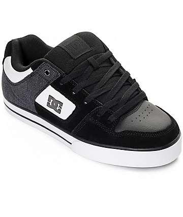 DC Pure SE zapatos de skate en blanco y negro