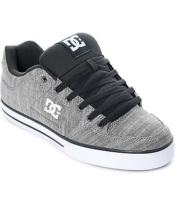 DC Pure TX SE Light Grey Skate Shoes