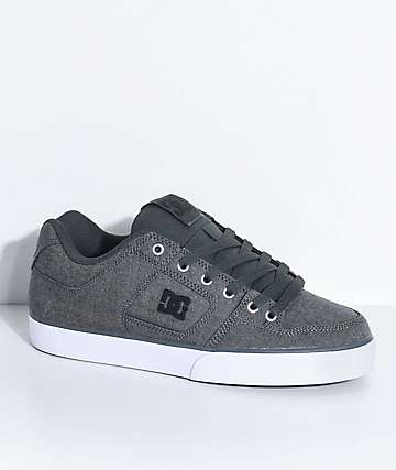 DC Pure TX SE zapatos grises y blancos