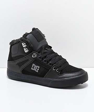 DC Pure botas de invierno negras de corte alto