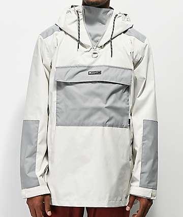 DC Rampart chaqueta anorak en blanco y gris