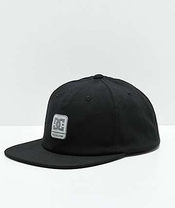 DC Round Baller Black Strapback Hat