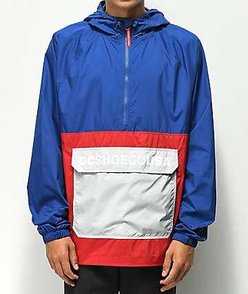 DC Sedgefield chaqueta anorak azul y roja