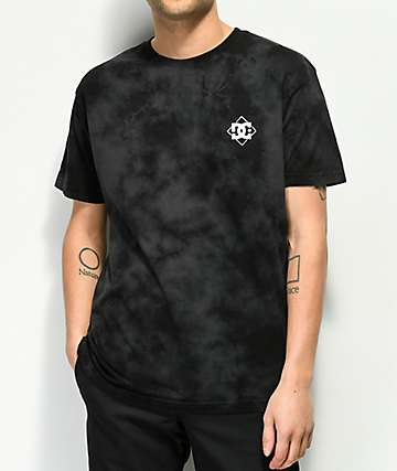 DC Single Star camiseta negra con efecto tie dye