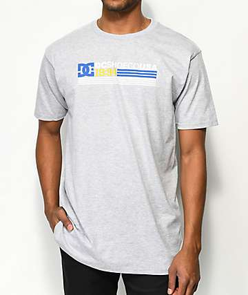 DC Snitched camiseta gris jaspeada