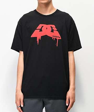 DC Spray Dip Black & Red T-Shirt