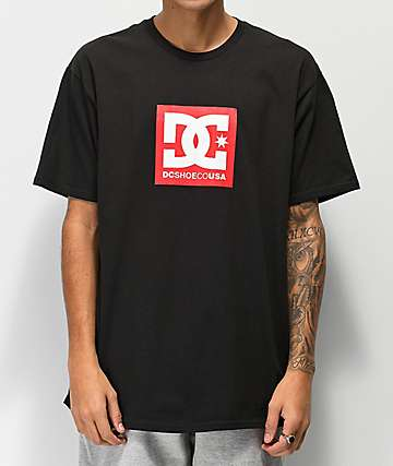 DC Square Star Red & Black T-Shirt