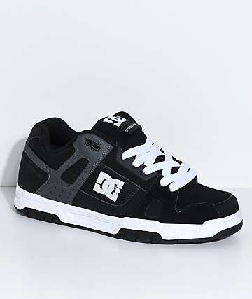 DC Stag Black, Grey & White Skate Shoes